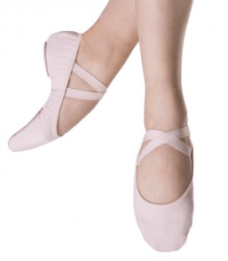 Bloch Performa Stretch Canvas Childrens Ballet Flat (Theatrical Pink) Dance Shoes