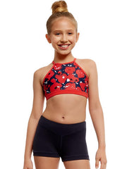 Strut Stuff - Valerie Crop TopDancewearChild 6Red Poppy