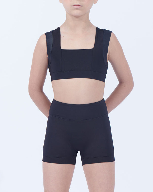 Viella Dance Collection - Shield High Waisted Boy Leg Shorts (Girls)Dancewear