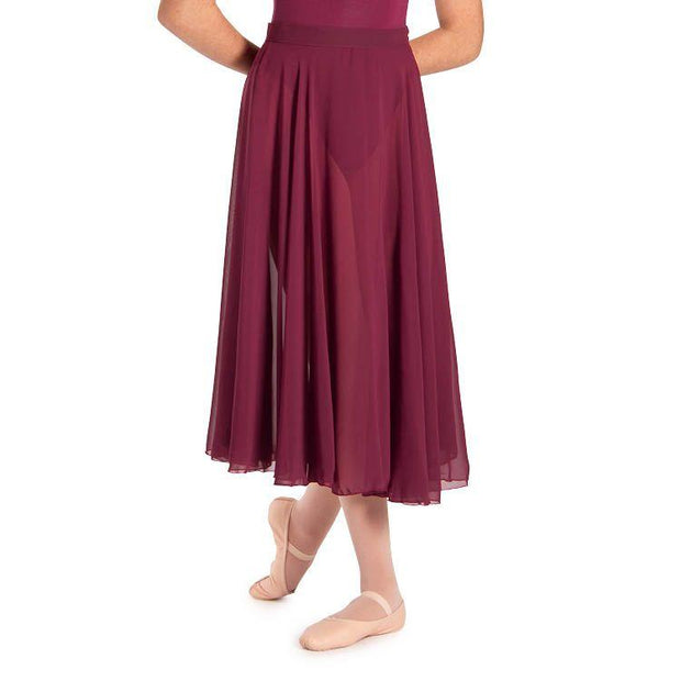 Bloch Charlyn Full Circle Chiffon Womens Skirt Dancewear
