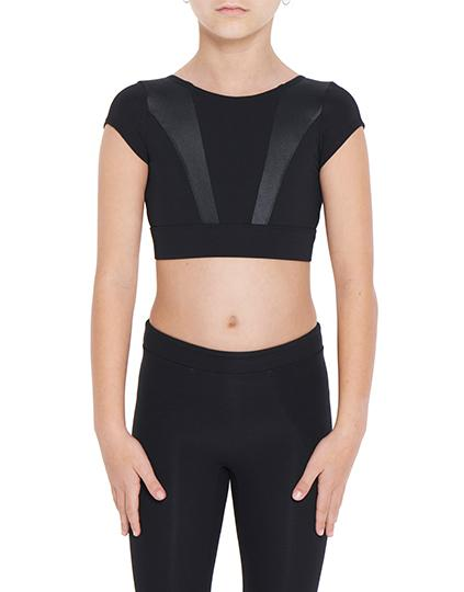 Viella Dance Collection - Arabella Crop Top (Girls)DancewearChild X-SmallBlack
