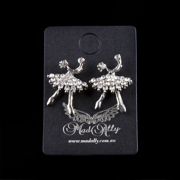 Dream Duffel - Mad Ally Diamante Ballerina Earring  Aspire Dance Collections