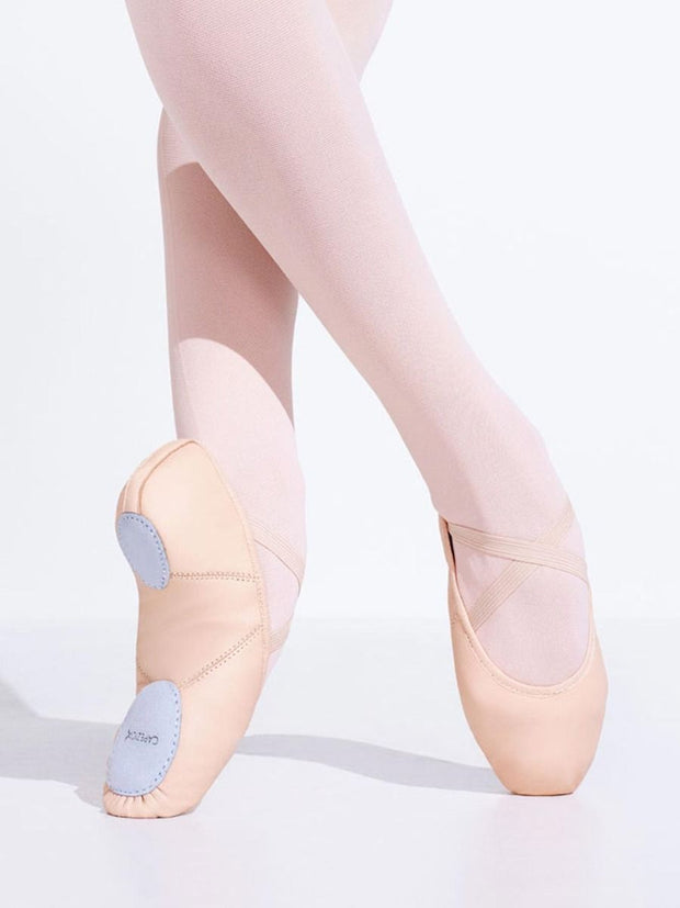 Capezio -  Leather Juliet Ballet Shoe (Salmon Pink) Dance Shoes Aspire Dance Collections