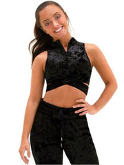 Capezio -  Velvet Mock Neck Bra Top Dancewear Aspire Dance Collections
