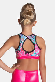 Sylvia P - Electric Jungle Crop Top Dancewear