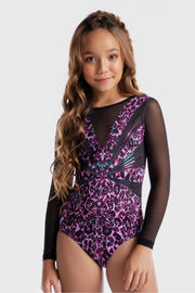 Sylvia P - Wild Side Firework Long Sleeve Leotard Aspire Dance Collections