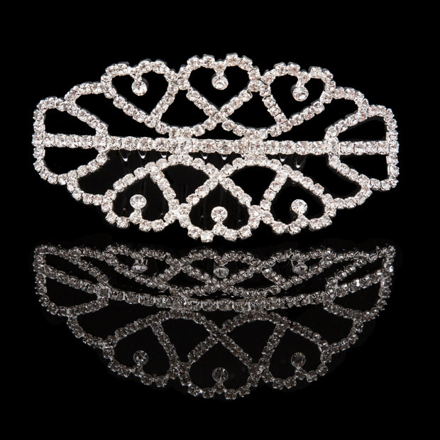 Mad Ally - Medium Double Tiara Silver (h40351S)