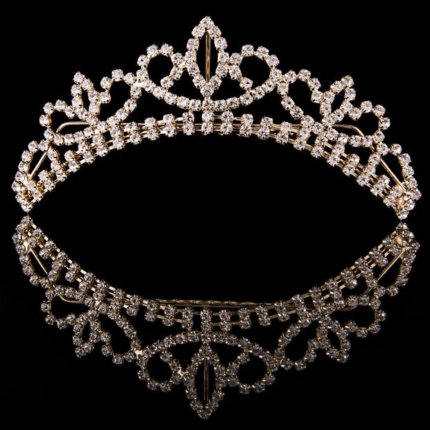 Dream Duffel - Mad Ally Medium Crystal Tiara Accessories Aspire Dance Collections