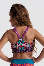 Sylvia P - Wild Side Instinct Reversible Cropped Singlet Dancewear Aspire Dance Collections