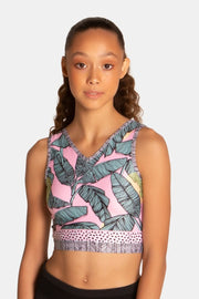 Sylvia P - Keep Palm Cropped Singlet Dancewear Aspire Dance Collections