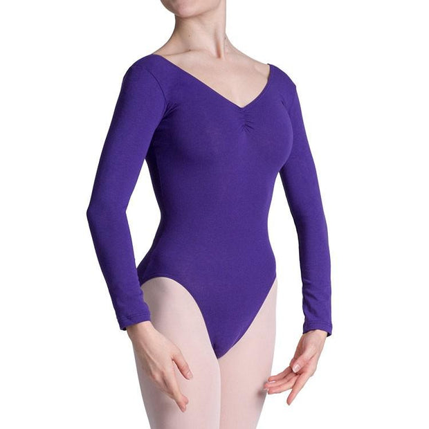 Bloch - Parla Gathered Long Sleeve Womens Leotard (L0459)