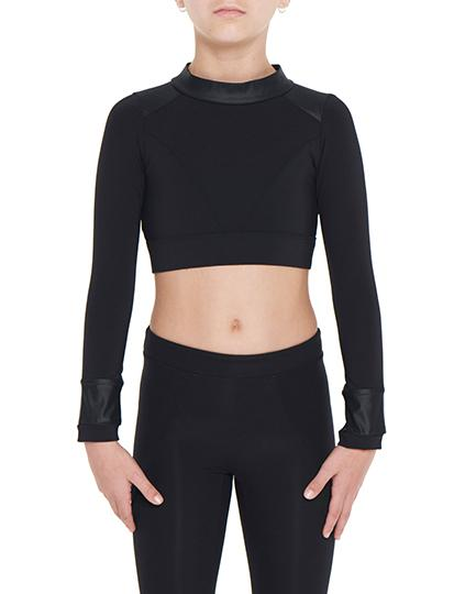 Viella Dance Collection - Millicent Crop Top (Girls)DancewearChild X-SmallBlack