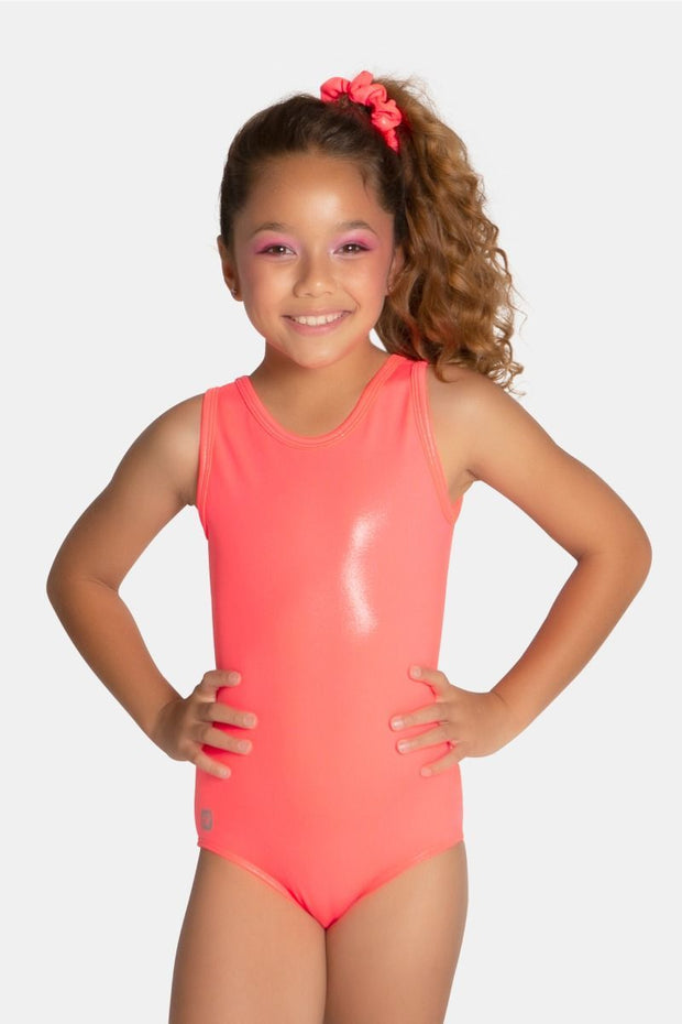 Sylvia P - Neon Coral Mystique Leotard Dancewear Aspire Dance Collections