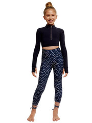 Spotted by Strut Stuff - Dakota Leggings - Navy Spots Dancewear