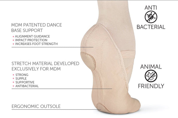 MDM - Intrinsic Profile Stretch Canvas Hybrid Sole Pink ( Child Foot Type ) Dance Shoes Aspire Dance Collections