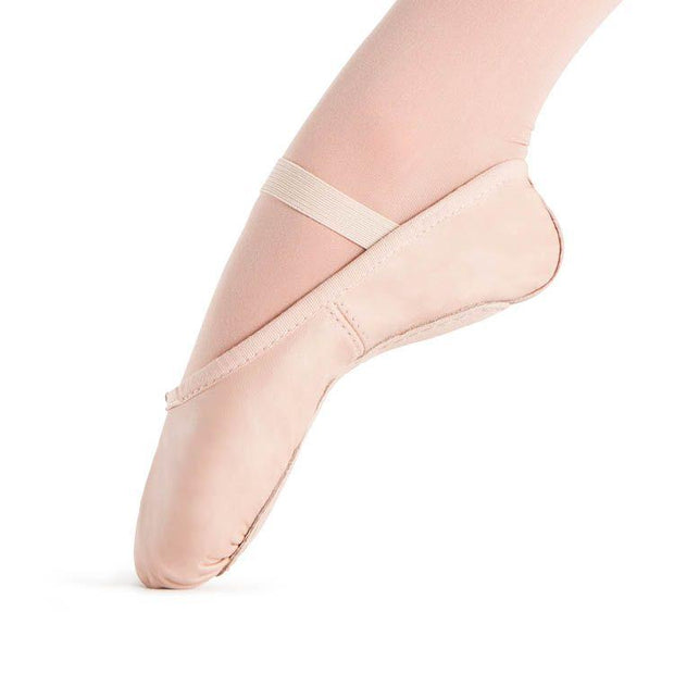 Bloch Dansoft Leather Girls Ballet Flat Dance Shoes