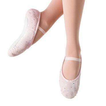 Bloch Velvet Bunny Hop Girls Ballet Flats Dance Shoes