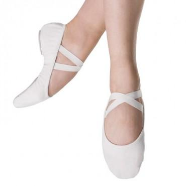 Bloch Performa Stretch Canvas Womens Ballet Flat (White) Dance Shoes