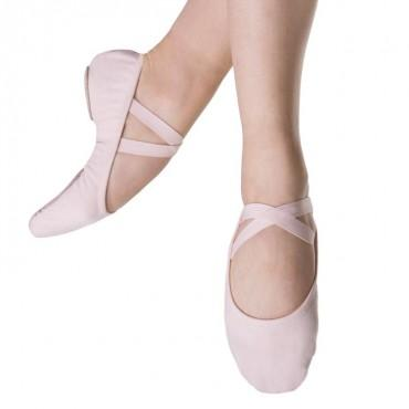 Bloch Performa Stretch Canvas Womens Ballet Flat (Theatrical Pink) Dance Shoes