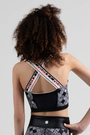 Sylvia P - Game On Sporty Boho Cropped Singlet Dancewear Aspire Dance Collections