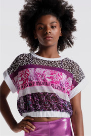 Sylvia P - Wild Side Tigeress Everyday Mesh Top Dancewear Aspire Dance Collections