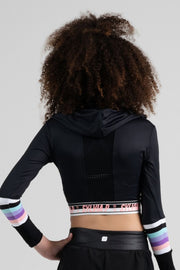 Sylvia P - Game On Trackside Cropped Long Sleeve Top Dancewear Aspire Dance Collections