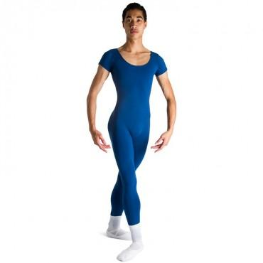 Bloch Matt Scoop Neck Cap Sleeve Mens Unitard (Royal) Dancewear