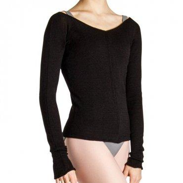 Bloch Kara Long Sleeve V Womens Top Dancewear