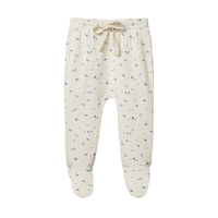 Nature Baby - Footed Rompers - Daisy Print