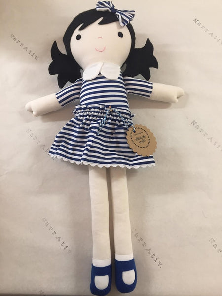 Fabric Doll - Navy Stripe