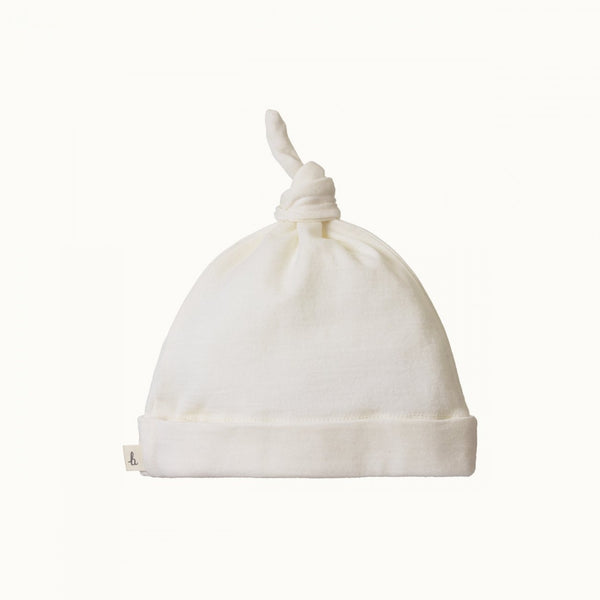 Merino Knotted Beanie - Natural 0-6M