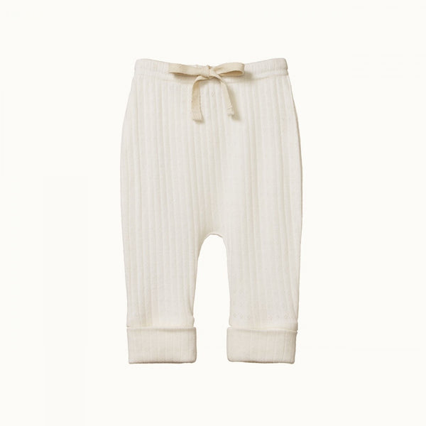 Pointelle Drawstring Pants - Natural