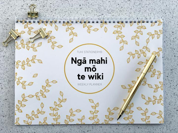 Tuhi Stationery - Weekly Planner Gold Leaf