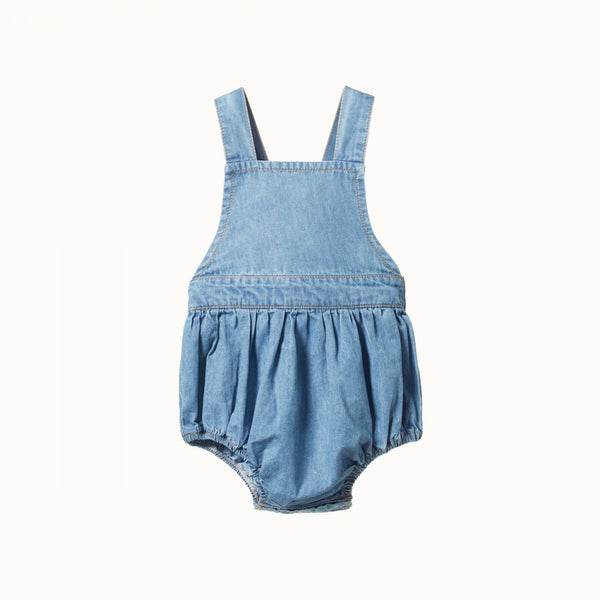 Nature Baby - Chambray Georgie Romper - Sky