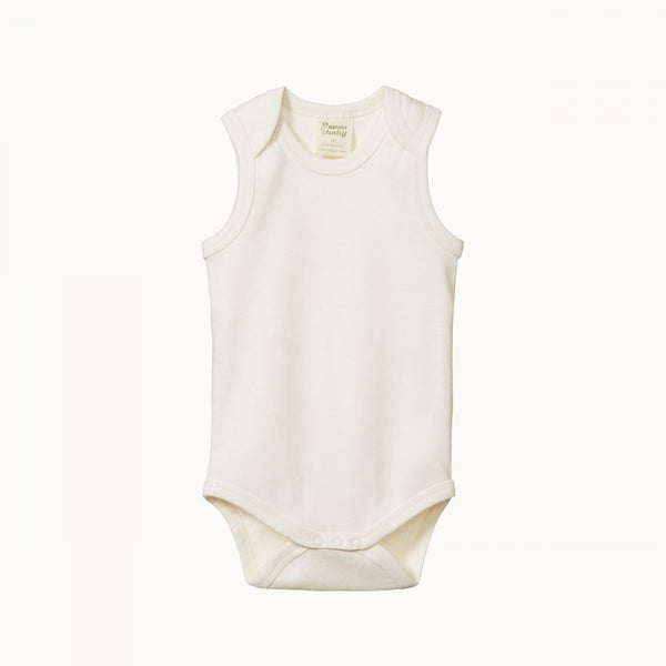 Nature Baby - Cotton Singlet Bodysuit - Natural