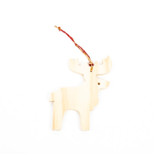 Trade Aid - Recycled Wood Reindeer Hanging