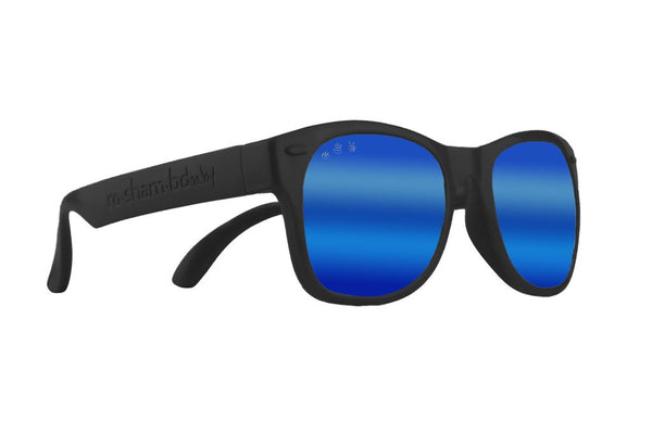 Toddler Shades - Black Bueller - Blue Polarized