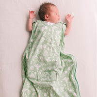 Woolbabe - 3 Season Front Zip Sleep Bag 0-9M Moss