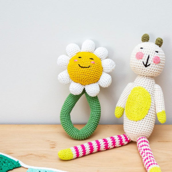 Trade Aid - Crochet Daisy Rattle