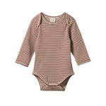 L/S Bodysuit Clay Stripe