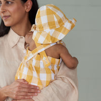 Nature Baby - Gingham Cloud Suit - Honey Check