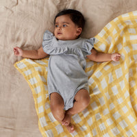 Nature Baby - Frill Suit - Grey Marl