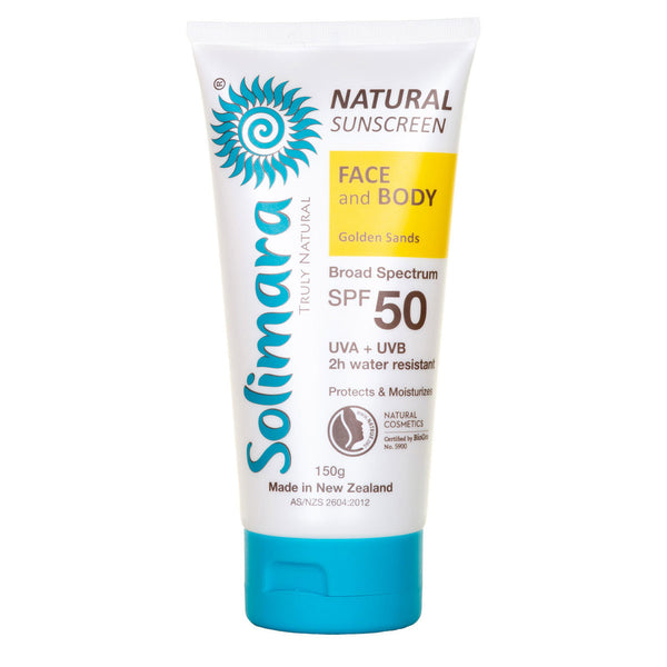 Natural Sunscreen - Solimara SPF50 Golden Sands 88g