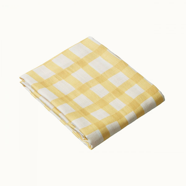 Nature Baby - Muslin Wrap - Lemon Check