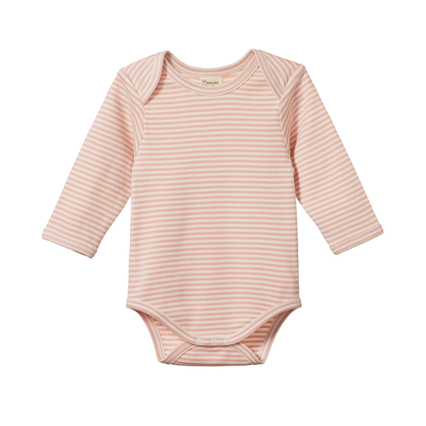 Nature Baby - L/S Bodysuit - Lily Stripe