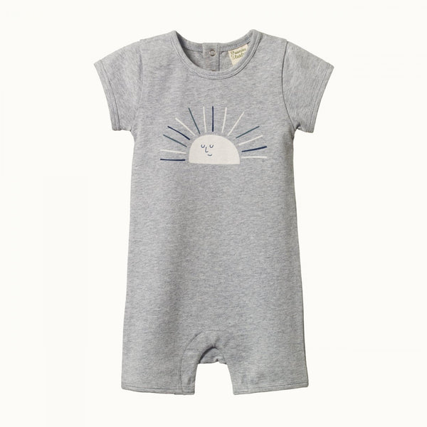 Nature Baby - S/S Quincy Romper - Sunrise Grey