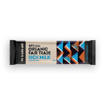 Trade Aid - Organic 40% Rich Milk Chocolate – 50g