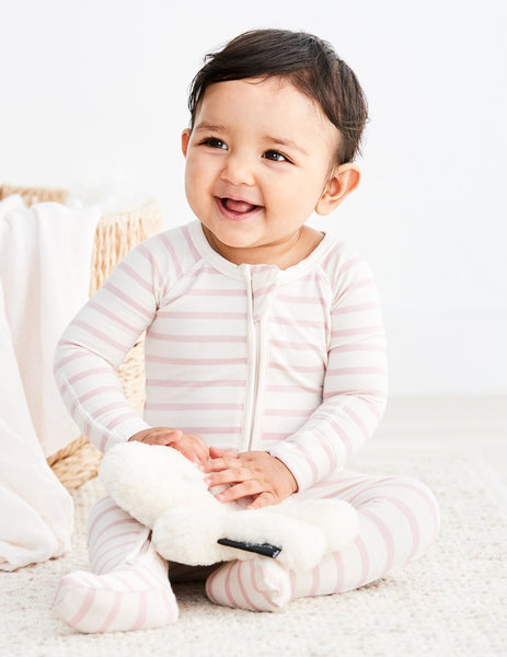 Boody - Bamboo Long Sleeve Stripe Onesie