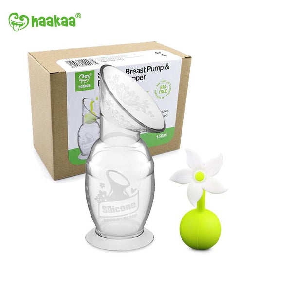 Silicone Breast Pump & Stopper Gift Pack 150ml