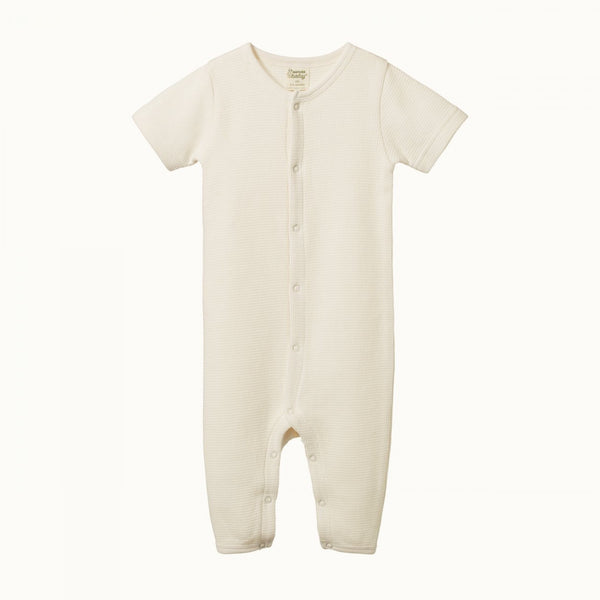 Nature Baby - Waffle Sleepy Suit - Natural